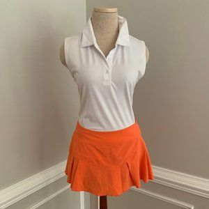 Ladies Nike Dri-Fit Golf Skirt Orange Medium
